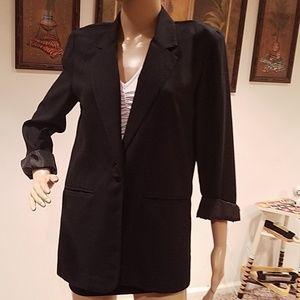 Sag Harbor Rolled sleeve blazer